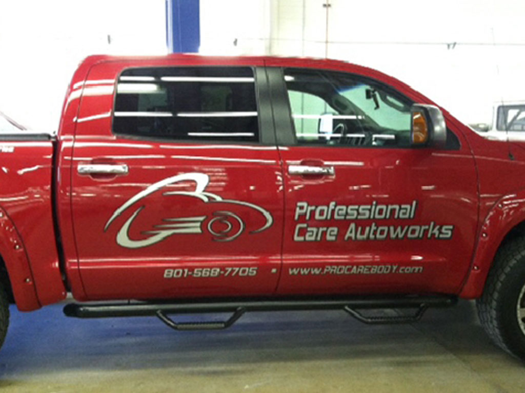 Metallic Vinyl Vehicle Graphics Utah
