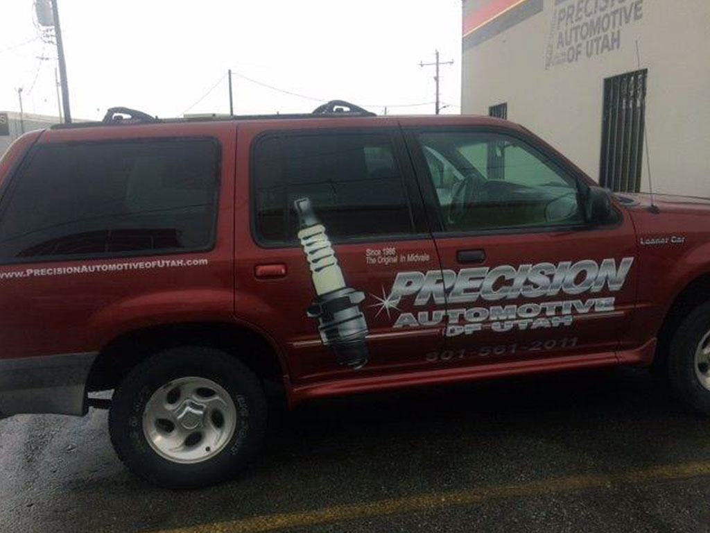Vehicle Wrap Car Logo and Lettering Utah